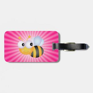 Cute Bee; Pink Bag Tag