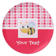 Cute Bee Plates