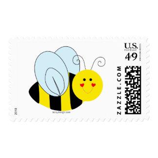 Cute Bee Postage Stamp