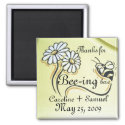 Cute Bee Save the Date Personalize Magnet magnet