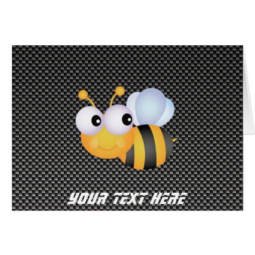 Cute Bee; Sleek Greeting Card