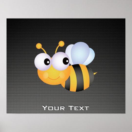 Cute Bee; Sleek Poster