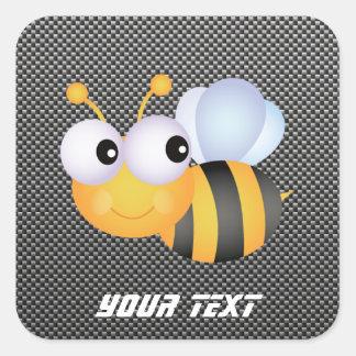 Cute Bee; Sleek Square Sticker