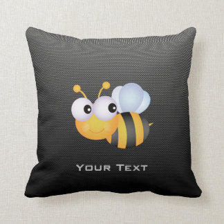 Cute Bee; Sleek Throw Pillow