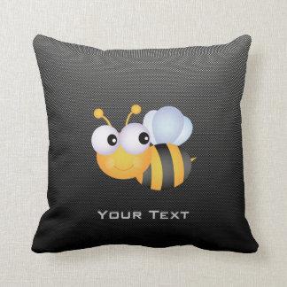 Cute Bee; Sleek Throw Pillow