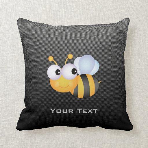 Cute Bee; Sleek Throw Pillows
