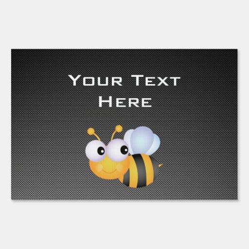 Cute Bee; Sleek Yard Sign