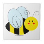 Cute Bee Small Square Tile
