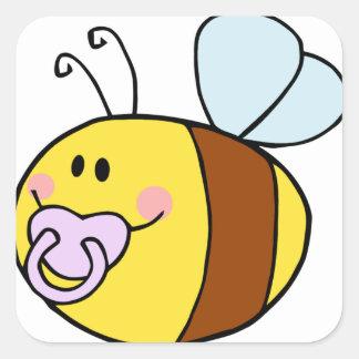 Cute Bee Square Sticker