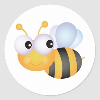 Cute Bee Stickers