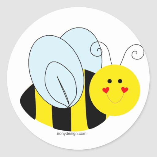 Cute Bumble Bees Baby Shower Thank You Stickers Round Sticker