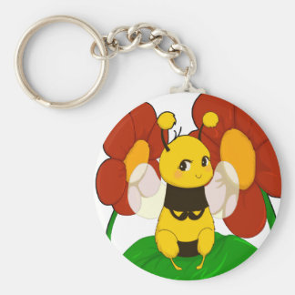 Cute Bee with flowers Keychain