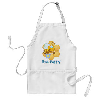 Cute Bee With Hive & Bucket Adult Apron