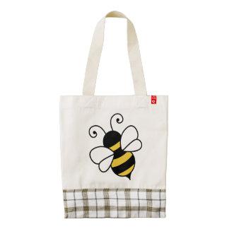Cute bee zazzle HEART tote bag