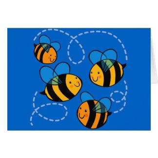 Cute Bees Greeting Card