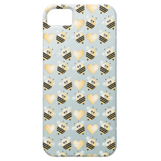 Cute Bees Honey Hearts iPhone5 Case