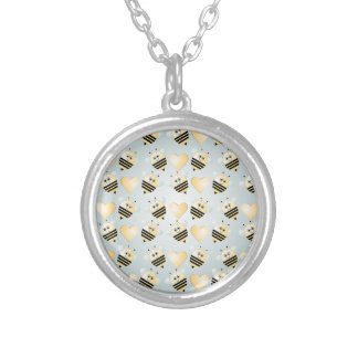 Cute Bees Honey Hearts Necklace