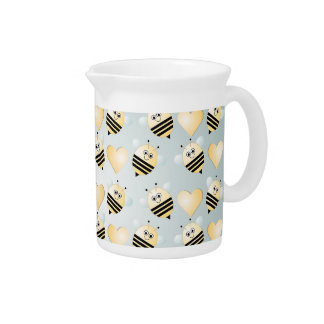 Cute Bees Honey Hearts Pitcher