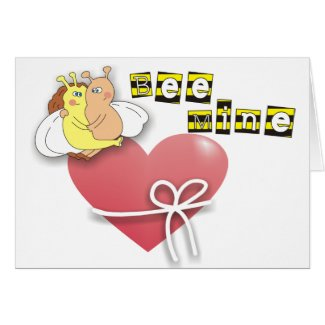 Cute Bees in Love Valentine Cards, Bee Mine