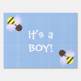 """Cute Bees """"It's a boy"""" Lawn Signs"""