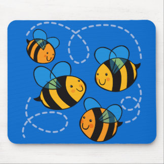 Cute Bees Mouse Pad