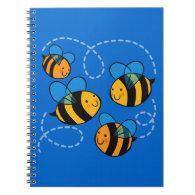 Cute Bees Spiral Notebooks