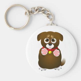 Cute Begging Puppy Key Chain