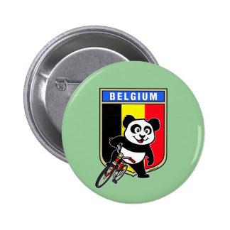 Cute Belgium Cycling Panda Pinback Button