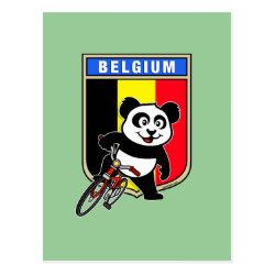 Postcard with Belgian Cycling Panda design