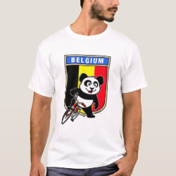 Men's Basic T-Shirt with Belgian Cycling Panda design