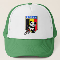 Trucker Hat with Belgian Cycling Panda design