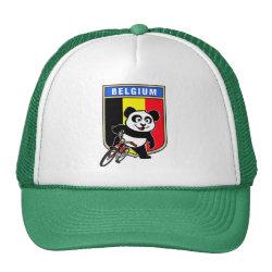 Trucker Hat with Belgian Cycling Panda design