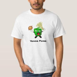 Cute Bell Pepper Cartoon Veggie Power T-shirt