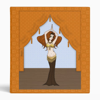 Cute Bellydancer in Brown and Gold Costume Binder