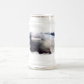 Cute Beluga Whale Beer Stein Mug