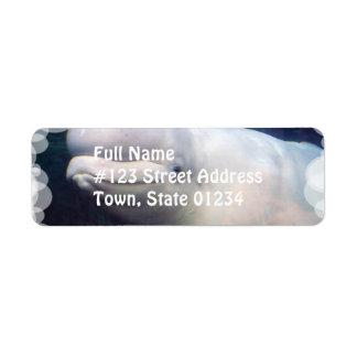 Cute Beluga Whale Mailing Label Return Address Label