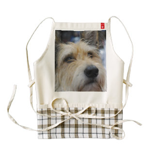 Cute Berger Picard Dog Zazzle HEART Apron