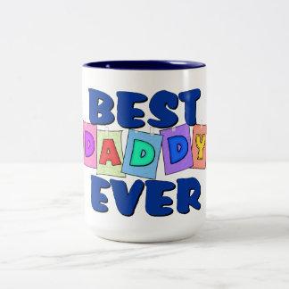 Cute Best Daddy EVER Two-Tone Coffee Mug