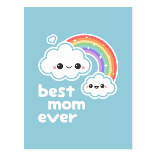 Cute Best Mom Ever Postcard