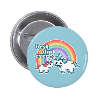 Cute Best Unicorn Dad Ever Pinback Button