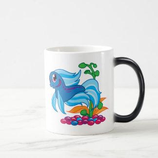 Cute Betta 11 Oz Magic Heat Color-Changing Coffee Mug
