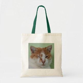 Cute Bi Color Cat Winking Bag