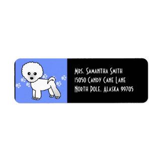 Cute Bichon Frise Cartoon - Blue Label