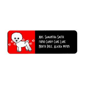 Cute Bichon Frise Cartoon - Red Label