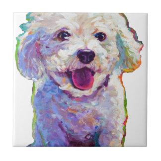 Cute Bichon Frise Ceramic Tile