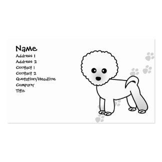 Cute Bichon Frise Dog Business Card - Blue