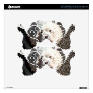 Cute bichon frise dog skin for PS3 controller