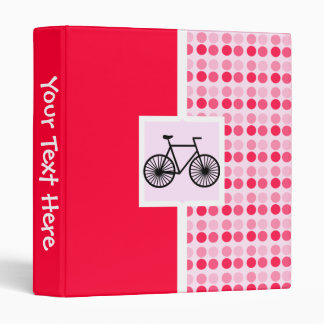 Cute Bicycle 3 Ring Binder