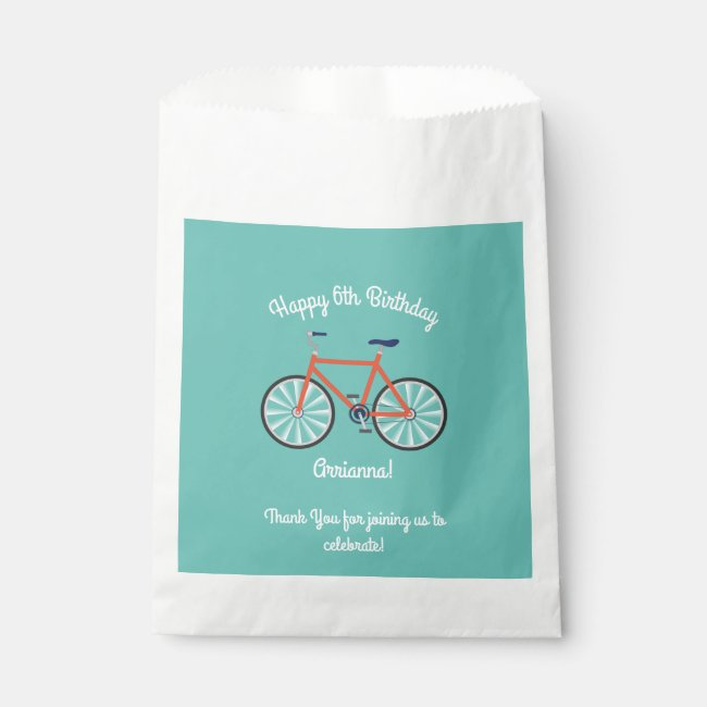 Cute Bicycle Kids Bike Birthday Party Cycling Favor Bag