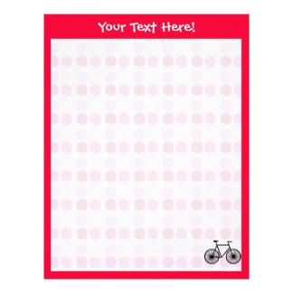 Cute Bicycle Customized Letterhead